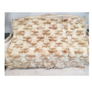 Rare Gorgeous Mid Century Ultra Plush Genuine Vicu A Blanket Throw Rug Early 40s