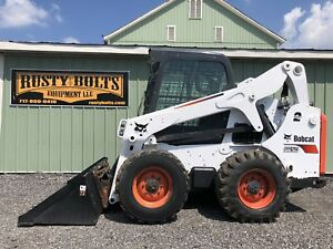 2014 Bobcat S650 Skid Steer Loader Enclosed Cab Heat ac 2spd Cheap Shipping