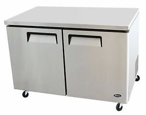 Atosa Stainless Steel Under counter 48 inch Two Door Refrigerator Energy Star