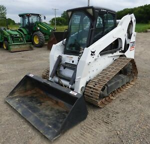 2010 Bobcat T320 Skid Steer Track Loader Erops Heat ac Aux Hydraulic 72 Bucket
