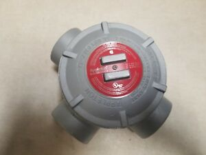 Appleton Gr gua O z Gedney Explosion Proof Outlet Box 2 Type T Iron