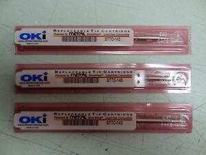 Lot Of 3 Soldering Replaceable Tip Cartridges Sttc 143 Metcal Oki De soldering