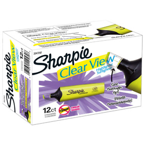 Sharpie Clear View Highlighter Chisel Tip 12 Pack