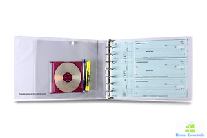 Checkbook Binders 3 On A Page 7 Ring Organizer Storage Case For Business Checks
