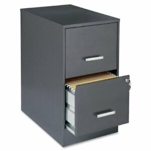 Lorell Office Dimensions 22 Deep 2 Drawer Letter sized Metal File Cabinet Meta