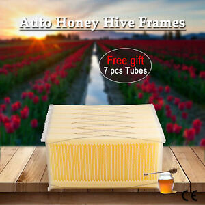 7pcs Automatic Honey Beehive Frames Kit Honey Bee Hive Harvesting