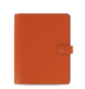 Filofax A5 Original Diary Notebook Burnt Orange Leather Planner Organiser 022391