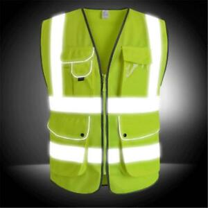 Construction Safety Vest Working Clothes Outdoor Workwear Protector Jacket Coat