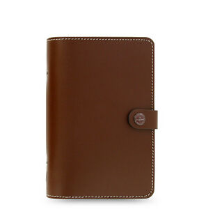 Filofax Personal Size Original Diary Notebook Brown Leather Organiser 022434