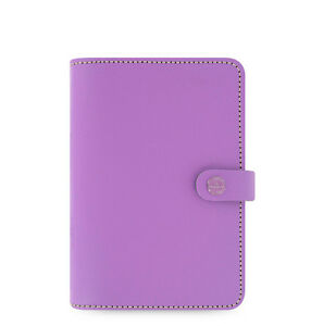 Filofax A6 Size Original Diary Notebook Lilac Leather Planner Organiser 022398