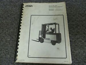 Crown 40fctt Electric Forklift Lift Truck Parts Catalog Service Repair Manual
