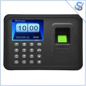 A6 Office Time Attendance 2 4 Inch Color Tft Screen Biometric Fingerprint Usb