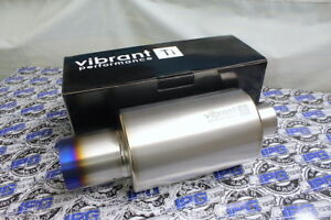 Vibrant Performance Titanium Muffler 3 Inlet 4 Straight Cut Burnt Tip