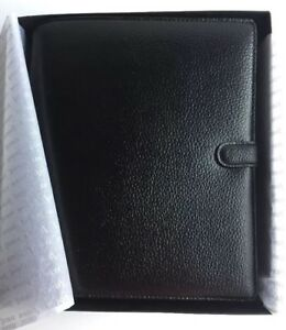 Filofax A5 Planner Organizer Black Nappa Leather With Original Box Enclosures