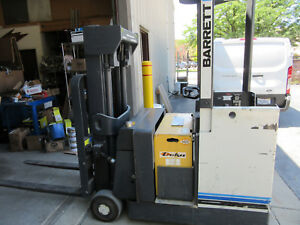 Barrett Ret 30 th Stand Up Forklift 3000 Lb 103 Lift 24v Only 795 Hrs W charger