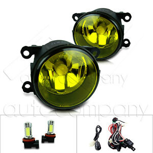 For 2013 2014 Ford Fusion Fog Lights W Wiring Kit Cob Bulbs Yellow