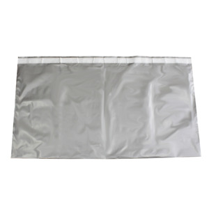 18 5 X 36 5 Silver Poly Mailer Large Plastic Envelope Ship Bag 4 Mil 100 Count