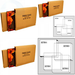 Uboxes Assorted Picture Mirror Moving Boxes Super Bundle 8 Set