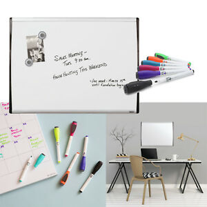 Dry Erase Board Magnetic Whiteboard 17 X 23 Plus 6 Pack Markers With Erasers