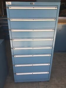Used Lista 8 Drawer Cabinet Industrial Great Condition