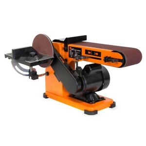 4 x 36 in. Belt and 6 in. Disc Corded Sander with Steel Base Bench Power Too