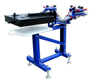 Micro adjust 3 Color Screen Printing Press With Rotary Dryer Vertical Machine