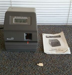 Acroprint 175 Electronic Digital Time Clock Stamp Recorder Punch Free Shipping