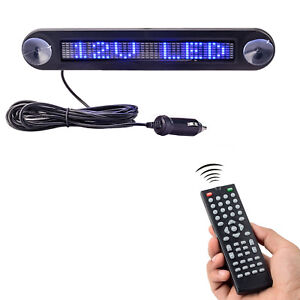 New Dc 12v Remote Led Car Sign Programmable Scrolling Message Sign Board For Car