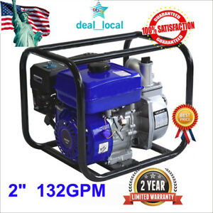 2 Gas Power 132gpm Trash Water Pump Drain Flood Irrigation W Epa 4stroke 6 5hp