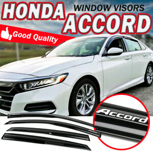 Fits 18 19 Honda Accord Sedan Window Visor Wind Guard Mugen Style W Sticker