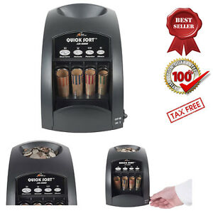 Electric Coin Sorter Machine Counter Change Wrapper 1 Row Coins Counting New