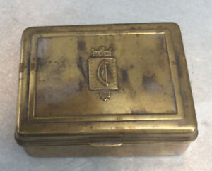 Bradley And Hubbard Brass Cigarette Box Marked C1930s 40s Very Good Condition