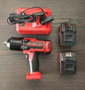 Slightly Used Snap On Ct8850 Cordless Impact Wrench And Accessories