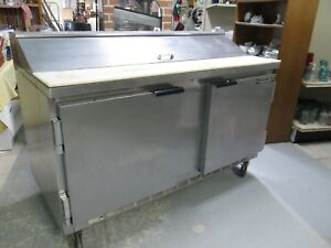 Beverage Air 2 Door With Top Compartment Refrigerator Prep Table Sp60 16