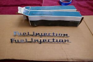 Corvette C1 1957 Nos Original Fuel Injection Emblems Fi 2 3742212