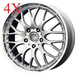 Drag Wheels Dr19 16x7 4x100 4x114 Silver Rims Mini Cooper Fit Integra Cube Eg Ek