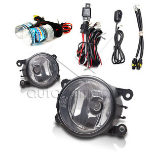 For 2005 2012 Nissan Pathfinder Fog Lights W Wiring Kit Hid Kit Clear