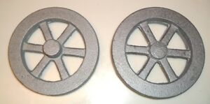 Cast Iron Model Hit Miss Gas Engine Live Steam Flywheels Casting Pair