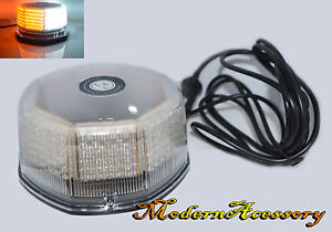 240 Led Amber White Security emergency flashing Strobe Light Magnetic Roof Top