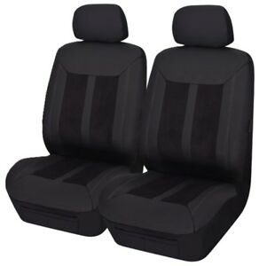 Pair Panelled Leather Look Seat Covers For Mg Mga Rwd Coupe