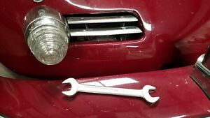 Vintage Porsche 356 Tool Kit Wrench Drop Forged Steel 14 15 Satin Chrome