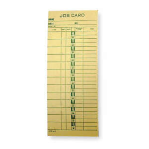 Amano Job Cost Time Card pk1000 Ctr l61