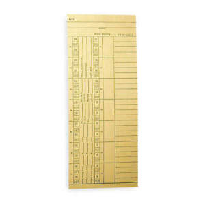 Payroll Time Card double Sided pk1000 Nk14 4505a