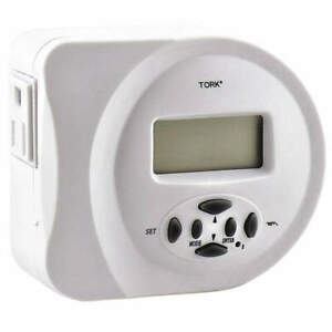 Tork Plug In Digital Timer 457z White