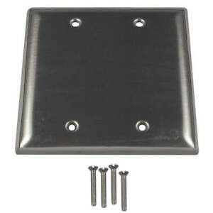 Calbrit Stainless Steel Electrical Box Cover blank 4 1 2 In S607blpltd Silver