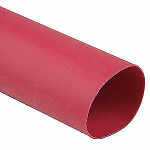 Raychem Shrink Tubing 0 5in Id red 4ft pk25 Cpgi rnf 100 1 2 rd stk Red