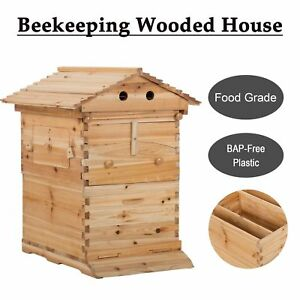 Upgraded Beehive Wooden Brood Beekeeping House Box Us Fast Shiping
