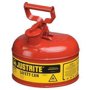 Justrite Type I Safety Can 1 Gal red 11in H 7110100