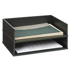 Victor Wood Stacking Letter Tray black 1154 5 Black