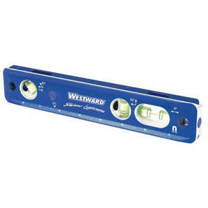 Westward Torpedo Level aluminum bubble anodized 32zu63 Blue